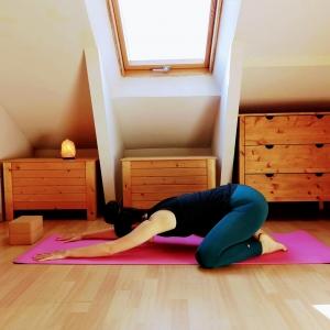 Postura del Niño, hata yoga